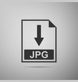jpg file document icon download jpg button icon vector image vector image