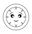 kawaii clock vector image vector image
