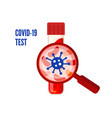laboratory conducts a blood test for a positive vector image vector image