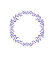 lavender color flowers decorative wreath isolated vector image