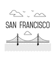 Monochrome San Francisco Golden Gate Bridge vector image vector image