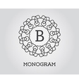 Monogram Design Template with Letter Premium vector image