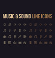 music sound line icon for app mobile website vector image vector image