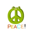 Peace Word And Corresponding Cartoon vector image vector image