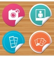 Photo camera icon Flash light and selfie frame vector image vector image