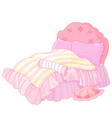 Princess Bed vector image vector image