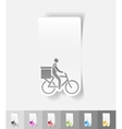 realistic design element delivery of goods by vector image
