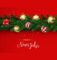 red christmas wreath ornament banner in german vector image vector image