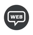 Round dialog WEB icon vector image vector image