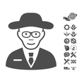 Scientist Icon With Tools Bonus vector image vector image