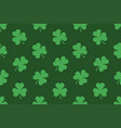 seamless pattern with shamrocks vector image vector image