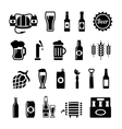 set beer icons vector image