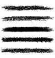 set of black halftone brushes isolated on white vector image