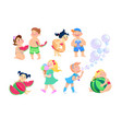 set of clip-art kids cartoon on a white background vector image
