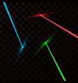 set of color laser beams isolated on transparent vector image