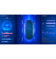 smart car dashboard modern speedometer interface vector image vector image
