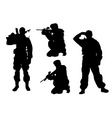 soldier silhouette vector image vector image