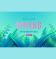 spring sale background banner with beauty fantasy vector image vector image