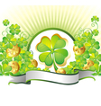 st patricks day frame vector image
