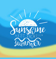 sunshine summer best vacation template design vector image vector image