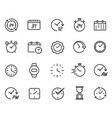 time line icon set schedule and data symbol vector image