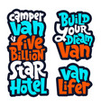 van life lettering vector image vector image