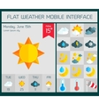 Weather UI Flat design elements for Web and Mobile vector image vector image