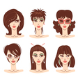 Woman portraits vector | Price: 3 Credits (USD $3)