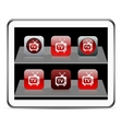 TV red app icons vector image