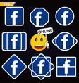 icon of the popular social network logo logo vector image