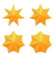 set of four golden seven point stars vector image