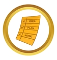 Step of success icon vector image
