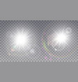 two white sun with lens flare vector image