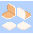 empty isometric pizza boxes vector image