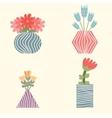 Set of flowers in vases vector image