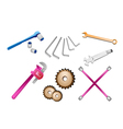 A set of auto repair tools kits vector | Price: 1 Credit (USD $1)