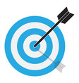arrow hits target target icon on white vector image vector image