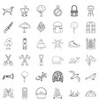 backpack icons set outline style vector image vector image
