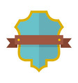 badge guardian icon flat style vector image vector image