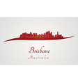 Brisbane skyline in red vector image