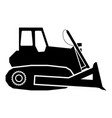 bulldozer icon black color flat style simple image vector image vector image