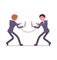 Businessmen khife fighting vector image