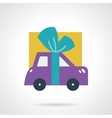 Car with bow flat icon vector image