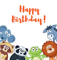 Cartoon birthday card vector image
