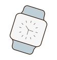cartoon classic analog watch wearable technology vector image vector image