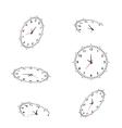clocks for you design vector image