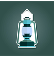 color icon with lantern vector image vector image