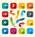 colorful arrows set arrow icon vector image vector image
