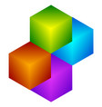colorful cube icon modern bright generic icon vector image vector image