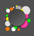 colorful neon paper circles vector image vector image